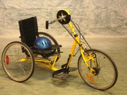 Handcykel gul